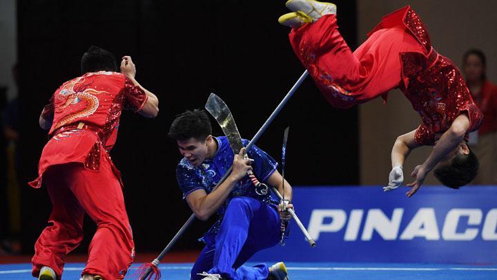 Tim Putra Wushu Indonesia Raih Emas di SEA Games 2019