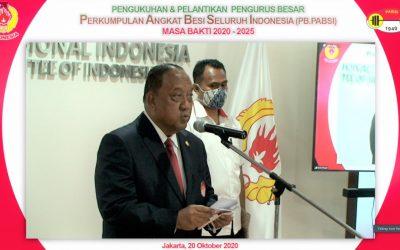 Pelantikan Pengurus Besar  Perkumpulan Angkat Besi Seluruh Indonesia (PB.PABSI)