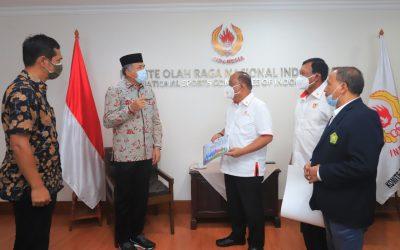 Gubernur Aceh dan Ketum KONI Aceh Melaporkan Persiapan PON XXI ke KONI Pusat