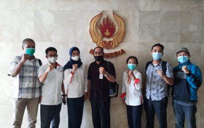 Bidang Media dan Humas KONI Sumatera Barat Kunjungi KONI Pusat