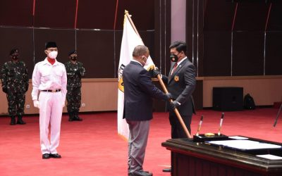 Ketum KONI Pusat Melantik Marsekal TNI Hadi Tjahjanto sebagai Ketum PB.FORKI Masa Bakti 2019-2023