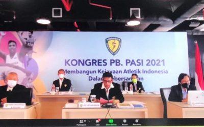 Ketua Umum KONI Pusat Secara Resmi Membuka Kongres PB.PASI 2021