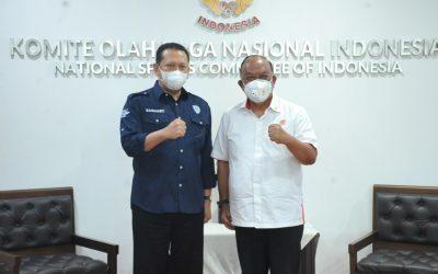 Ketum PP.IMI Bambang Soesatyo beserta Pengurus Berkunjung ke KONI Pusat