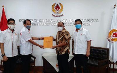 Plt Ketum Riau Berkunjung ke KONI Pusat