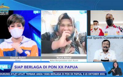 Para Atlet Terus Berlatih dan Siap Berlaga pada PON XX Tahun 2021 di Papua
