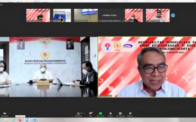KONI Pusat Gelar Webinar Mendorong Organisasi Pembinaan Olahraga Prestasi yang Akuntabel
